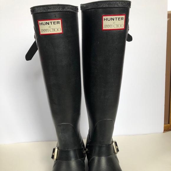 01b87e0a995 Hunter Shoes | Jimmy Choo Wellington Boots Size 6 | Poshmark